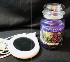 22oz Yankee Candle Lilac Blossums and Electric Candle Warmer Rimports RIM-888 W2 - $22.09