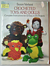 Crocheted Toys and Dolls 12 Easy to do Projects Octopus, Racoon, Butterfly - $7.43