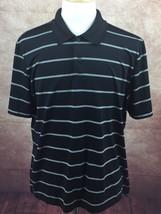 IZOD PerformX Cool-FX Polo Golf Black Stripe Short Sleeve Shirt Men's XL - $14.80