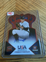 2015 Panini USA Baseball Forrest Whitley Crown Royale  Red Foil Die Cut Auto /50 - $44.55