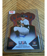 2015 Panini USA Baseball Forrest Whitley Crown Royale  Red Foil Die Cut ... - $44.55