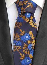 Berlioni Italy Men's Classic Paisley Striped Necktie Tie Handkerchief Gift Set image 2