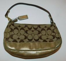 Coach Gold Signature Leather Demi Bag 1861 - $18.00