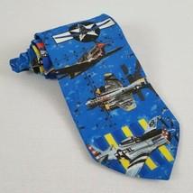 Ralph Marlin Warbirds Series 1 Necktie 1997 World War 2 Military Aircraft Planes - $21.00