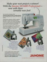 2007 Magazine Advertisement Janome Professional Sewing Machines PRINT AD... - $4.47