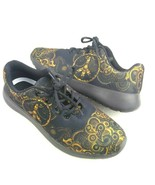 Yes We Vibe Paisley Shoes Black Yellow Sneakers Men's Size 8 Lace Up - $32.73