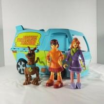 Scooby-Doo The Mystery Machine Van 3 Toy Figures Thinkway Toys Velma Dap... - $37.74