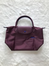 Longchamp Club Collection Horse Embroidery Short Handle Mini Handbag Plum - $95.00