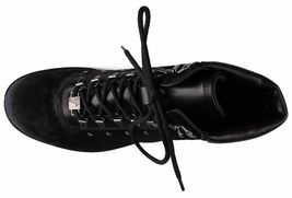 Versace Collection Black Pony Hair Lace Up Mountain Boots V900393 NIB image 6