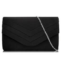 Milisente Women Clutches Velvet Envelope Evening Bag Classic Clutch Purs... - $17.46