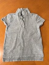 Girls Kids Gap GapKids Light Gray Polo T-Shirt Size Small 6-7 - $8.90