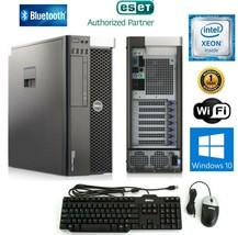 DELL PREC T3600 XEON E5-1620 3.6Ghz 16GB  240SSD Win 10 + 2x500GB HDD Nv... - $399.99