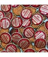 Soda pop bottle caps Lot of 25 NEHI STRAWBERRY cork lined unused new old... - $9.99