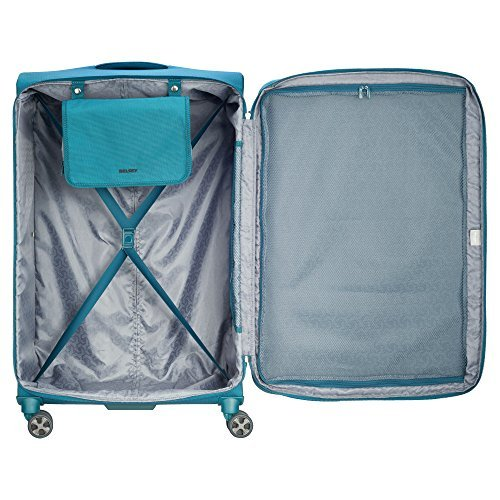 Delsey Luggage Hyperglide Large Checked Luggage Lightweight Spinner Suitcase, Te