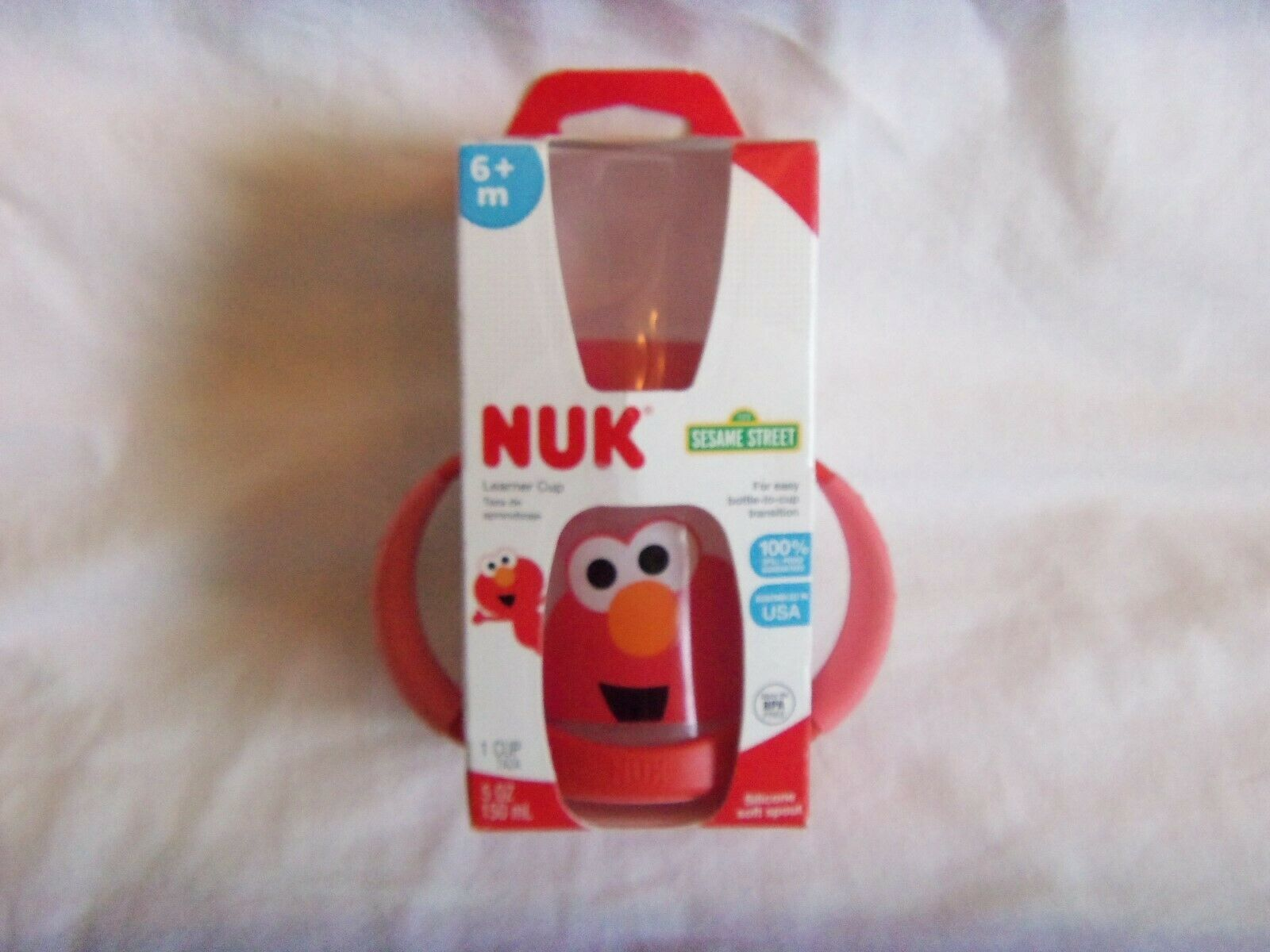 Primary image for NUK SESAME STREET  5oz LEARNER CUP  6+ M        NEW