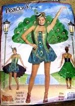 Sizes 6-12 - Rasta Imposta Peacock Costume, Hat & Dress w/ Fantail - $59.40