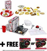 Order Up! Diner Play Set: Play Food Set + FREE Melissa & Doug Scratch Art Mini-P - $37.37