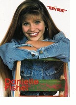Danielle Fishel Brad Renfro teen magazine pinup clipping jean jacket ladder Bop