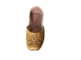 Women Shoes Jutties Indian Handmade Casual Leather Flip-Flops Mojari US 5.5-7.5 - £26.69 GBP
