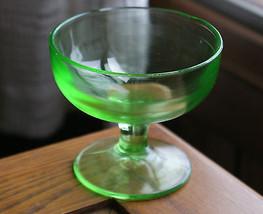 Old Vintage Green Sherbet Cup Depression Glass Black Light Glows / Neon ... - $9.99