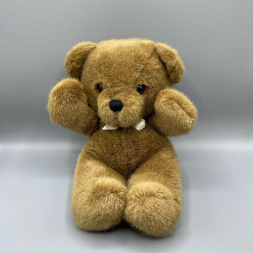 """Vintage 1979 Dankin Cuddles Teddy Bear 15"""" Cream Bow EUC - $44.55"""