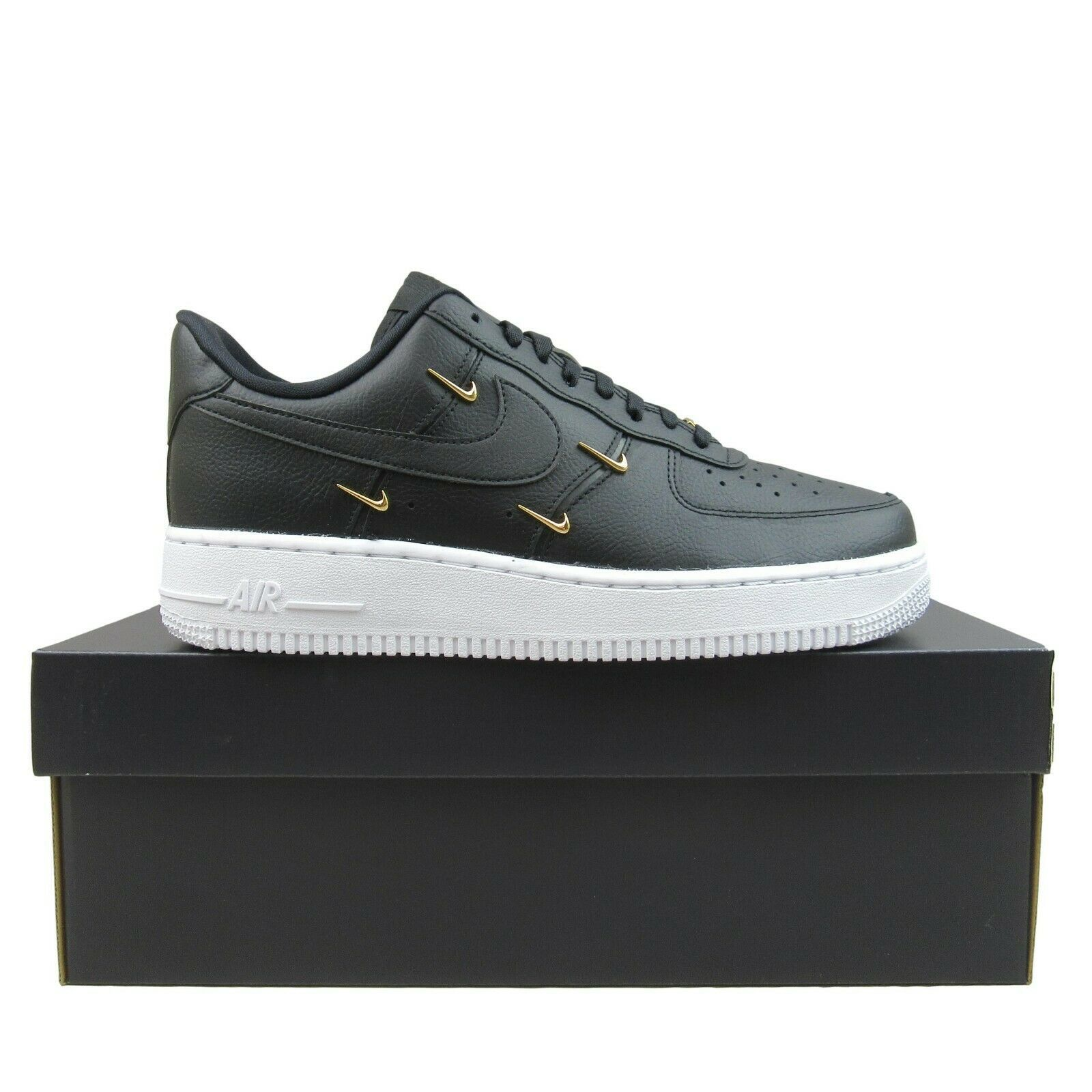 Primary image for Nike Air Force 1 '07 LX Womens Sisterhood Size 9 Black Gold NEW CT1990-001