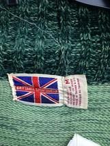 Vintage Brittania Sportswear Green Wrap Sweater Knit Cardigan Sz M image 2