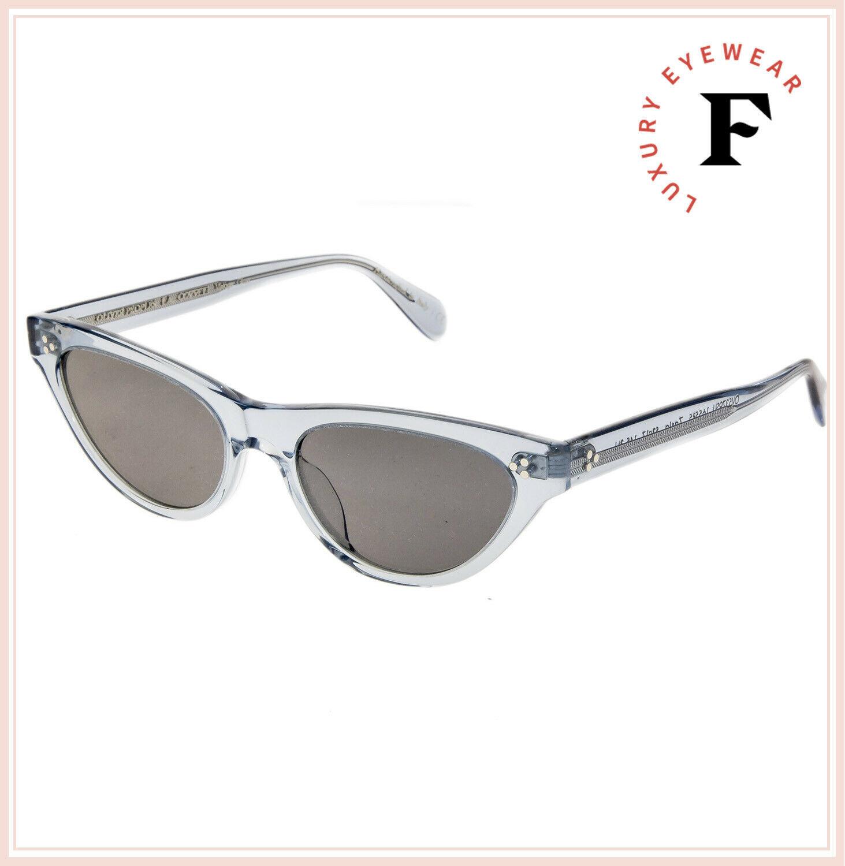 Oliver Peoples ZASIA 5379 Light Denim Blue Vintage Glass Sunglasses OV5379SU image 4