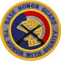 Genuine U.S. Air Force Patch: Base Honor Guard To Honor With Dignity - Color - $13.84