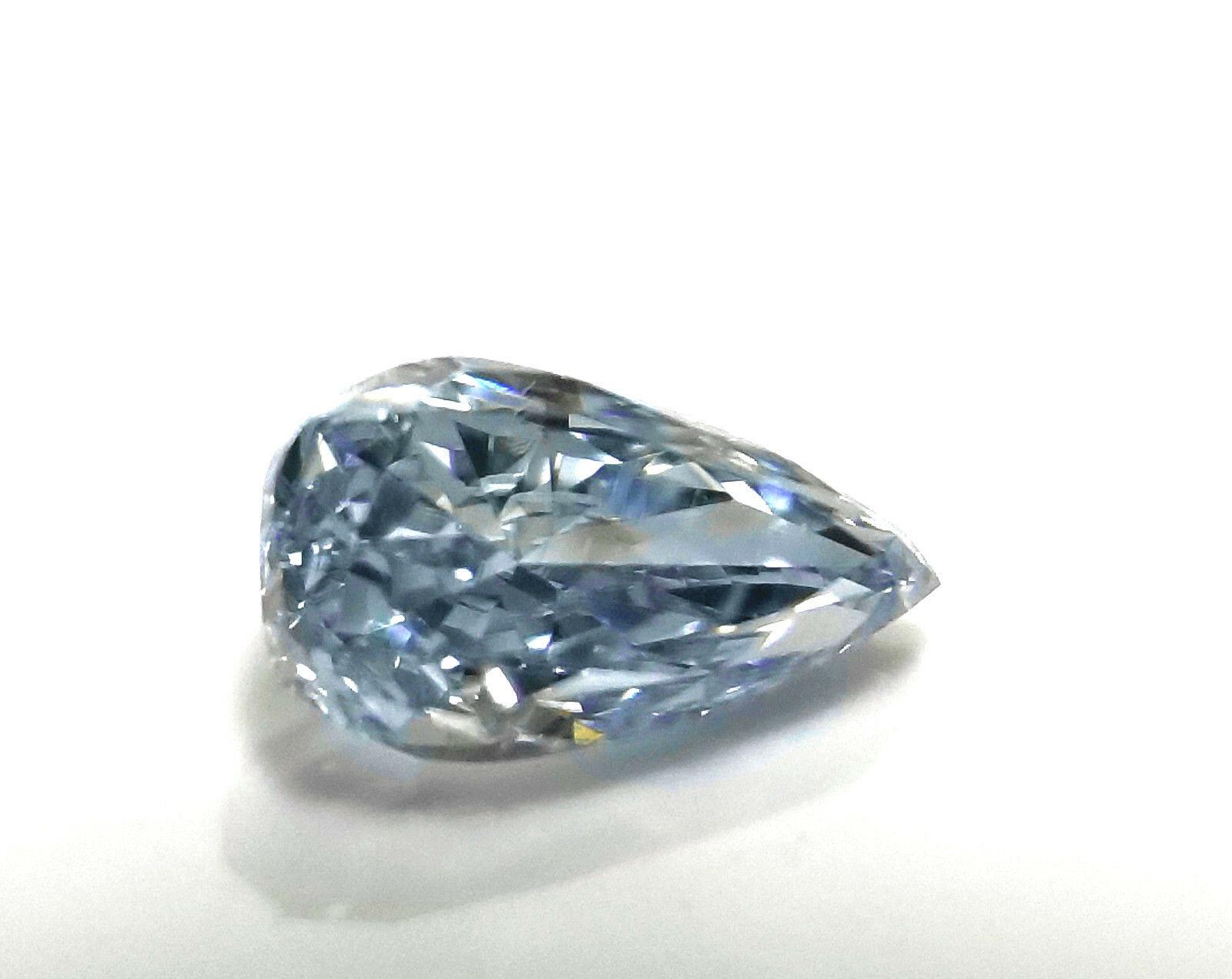 Blue Diamond 0 24ct Natural Loose Fancy Blue Color Gia