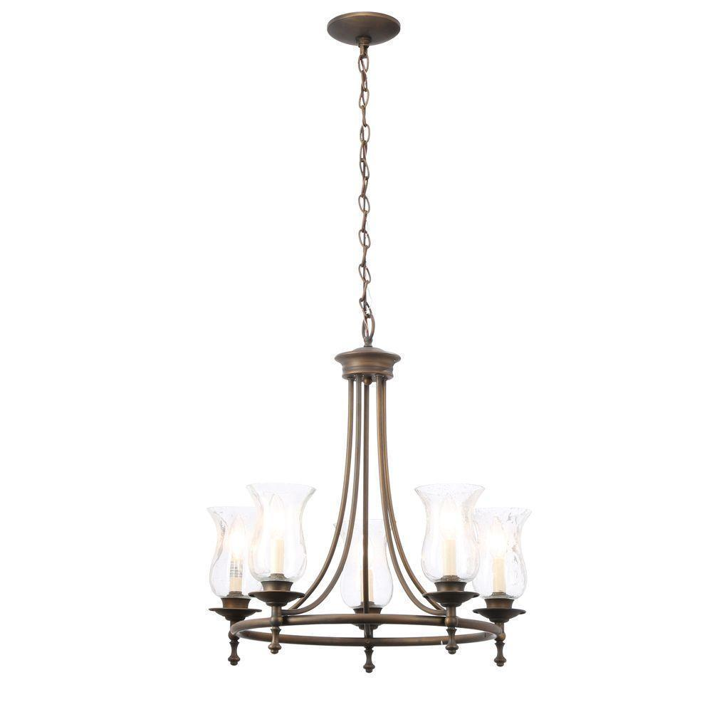 5 Light Chandelier Candle Style Clear Glass Rubbed Bronze Candelabra Ul Listed 154 82 Advanced Search For Hampton Bay