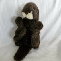 Baby Sea Otter Hand Puppet w/ Movable Mouth & Legs, Folkmanis Stuffed Pl... - $19.79