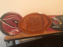 Arizona Cardinals NFL Party Supplies w/ Plate, Napkins & Shaped Tray - $11.29