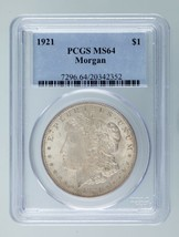 1921 $1 Silver Morgan Dollar Graded by PCGS as MS-64! Gorgeous Morgan! - $74.24