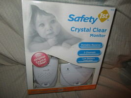 Safety 1st 2 Channel Crystal Clear Monitor Clear FlexibleRange 600ft. - $65.00
