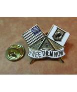 Vietnam missing in action prisoner of war, Free them now lapel pin - $6.75