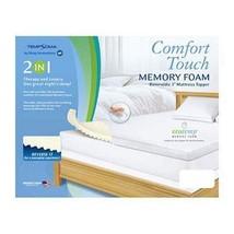 "King Memory Foam Mattress Pad Topper 3"" Comfort Touch Tempsoma Sleep Inn... - $84.14"