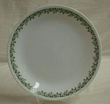 """Spring Blossom by Corning 10-1/4"""" Dinner Plate Large Green & White Flowers - $19.79"""