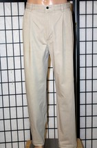 Tommy Hilfiger Golf Men's 36 X 34(Inseam 32) Khaki Pleated Front Pants Euc - $27.08