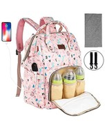Diaper Backpack Waterproof Baby Nappy Bags Mom Insulated Bottle Pockets ... - $35.81