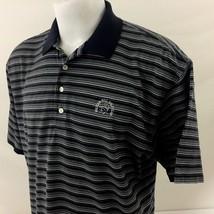 9f8cef21c Pelican Hill Mens Golf Polo Shirt Large Byron Nelson Blue Striped 100% C..