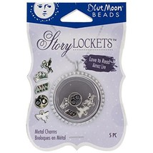 Blue Moon Beads Story Lockets Metal Charm, Love to Read, Assortment, 5-Pack - $4.92