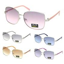 Womens Rectangular Metal Rim Butterfly Diva Pop Color Sunglasses - $12.95