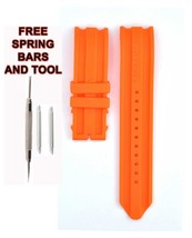 Nautica A16642G 22mm Orange Rubber Watch Strap Band NTC121 - $22.76