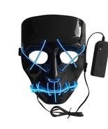 Cold Light Mask Lights At Night For Dance Party Halloween Scary Luminous... - $13.14
