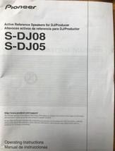 Pioneer S-DJ08 / S-DJ05 Owner Manual - $9.85