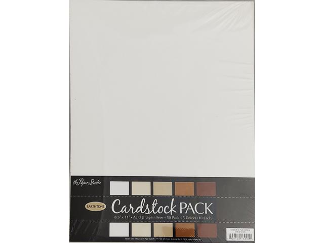 The Paper Studio Earthtone Cardstock Pack 50 Sheets #732339