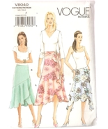 Skirt & Sash Sewing Pattern Misses Sizes 6-10 Vogue 8040 UNCUT - $5.99