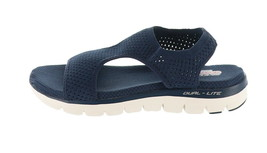 Skechers Knit Cutout Sport Sandals Deja Vu Navy 11M NEW A349857 - £37.29 GBP