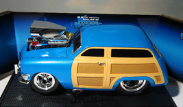 ~ Muscle Machines '50 Woody - 1950 Ford Custom   1:18 Pacific Blue -  MIB - $24.95